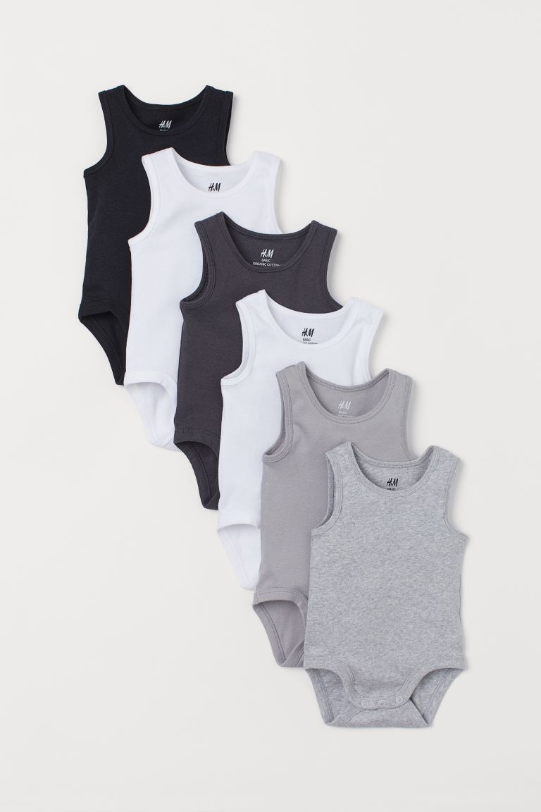 6-pack Sleeveless Bodysuits - Black/multicolored - Kids | H&M US