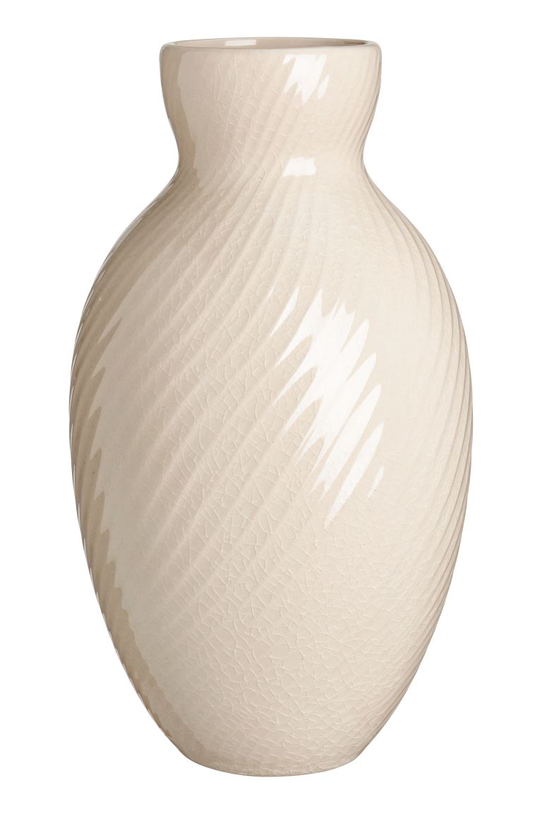 Grand vase en céramique - Beige - Home All | H&M FR