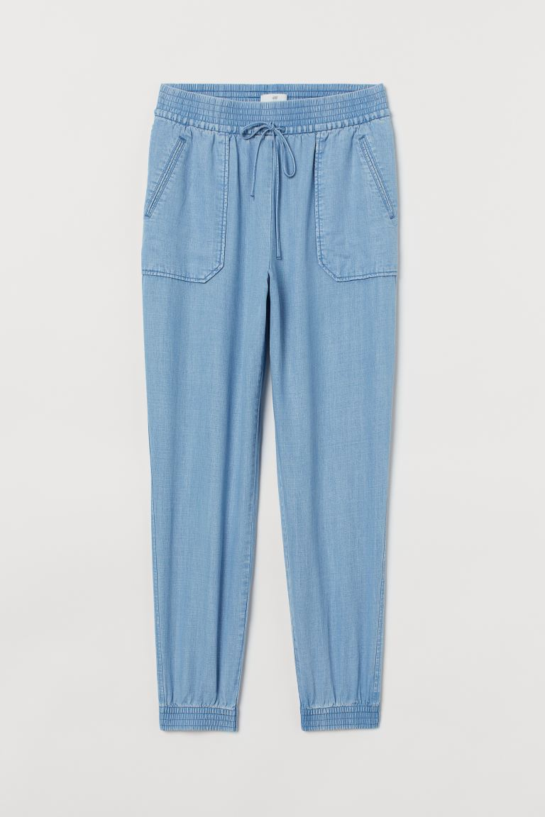 Lyocell utility joggers - Light denim blue - Ladies | H&M