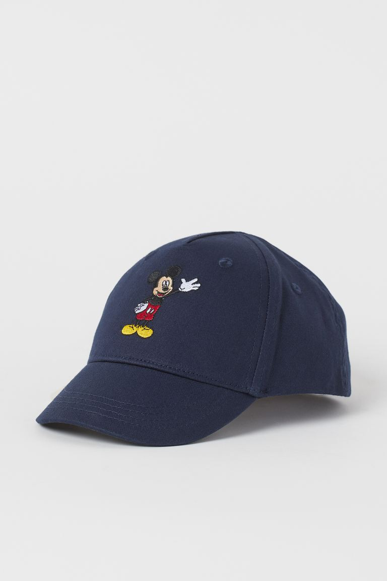 Motif-front twill cap - Navy blue/Mickey Mouse - Kids | H&M