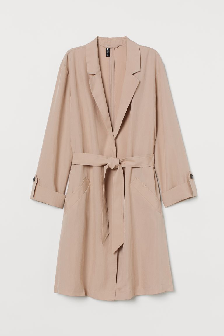 Modal-blend trenchcoat - Light beige - Ladies | H&M