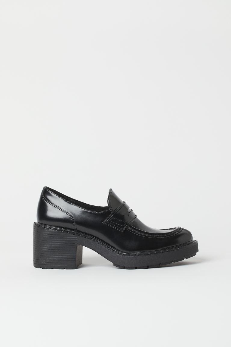 Loafer mit Blockabsatz