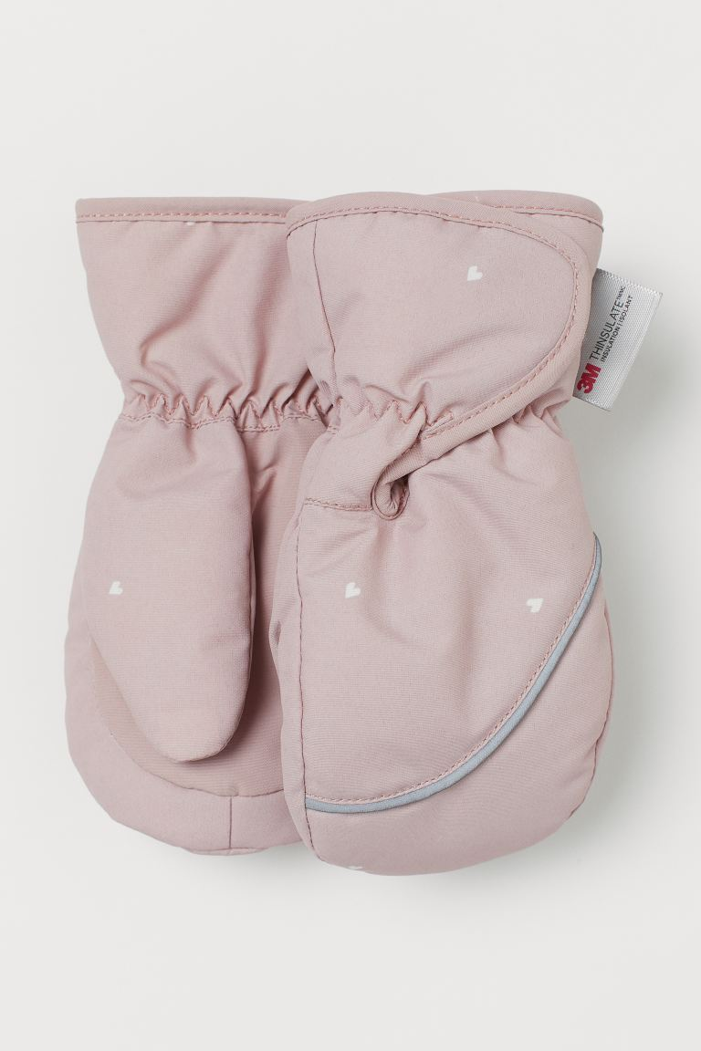 Guantes impermeables - Rosa claro/Corazones - Kids | H&M MX
