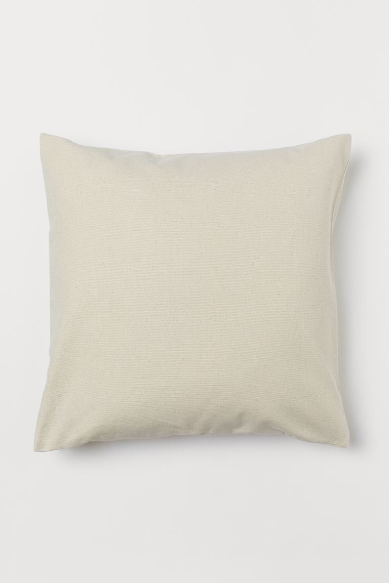 Canvas Cushion Cover - Natural white - Home All | H&M US