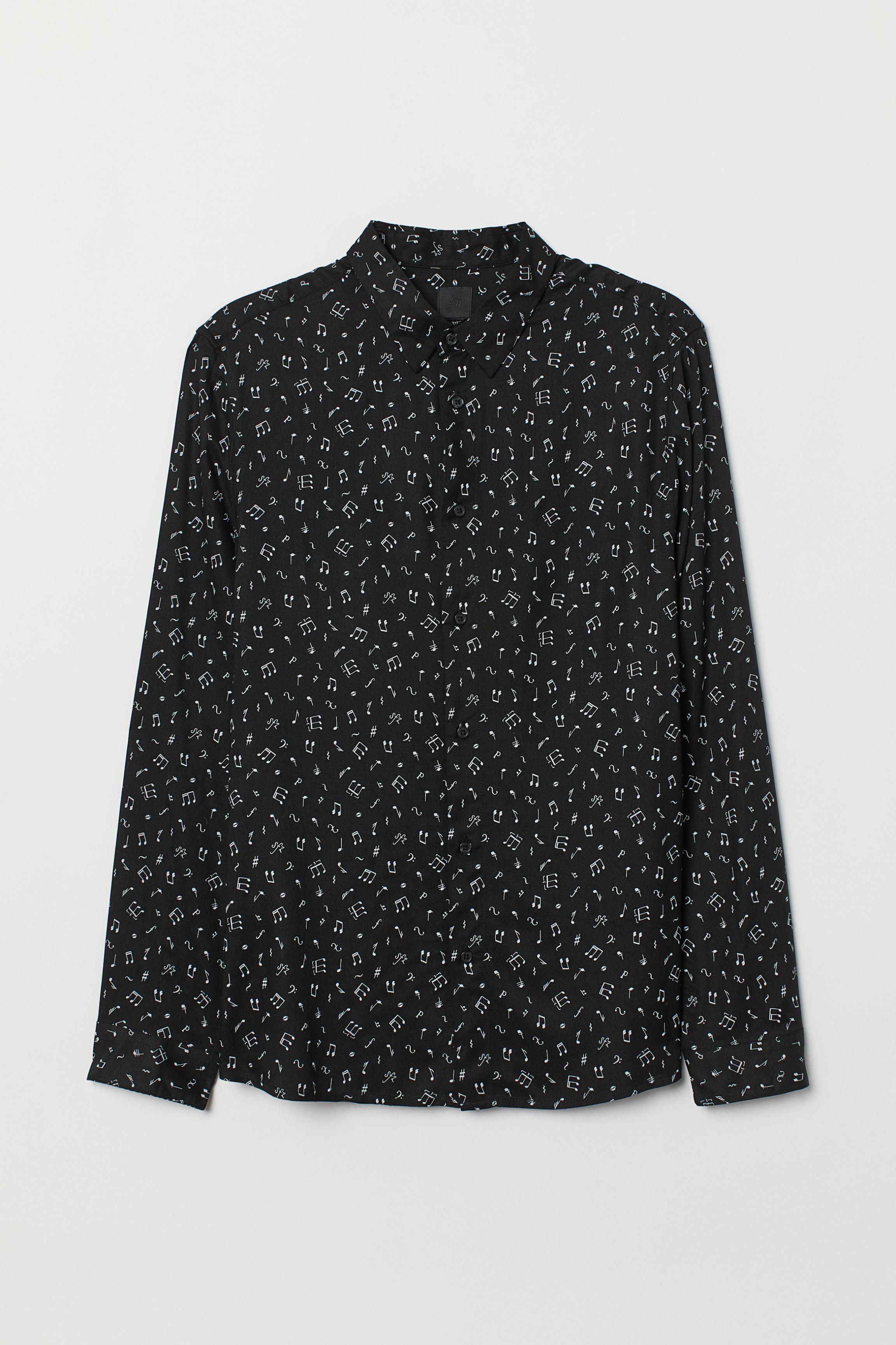 Slim Fit Viscose Shirt