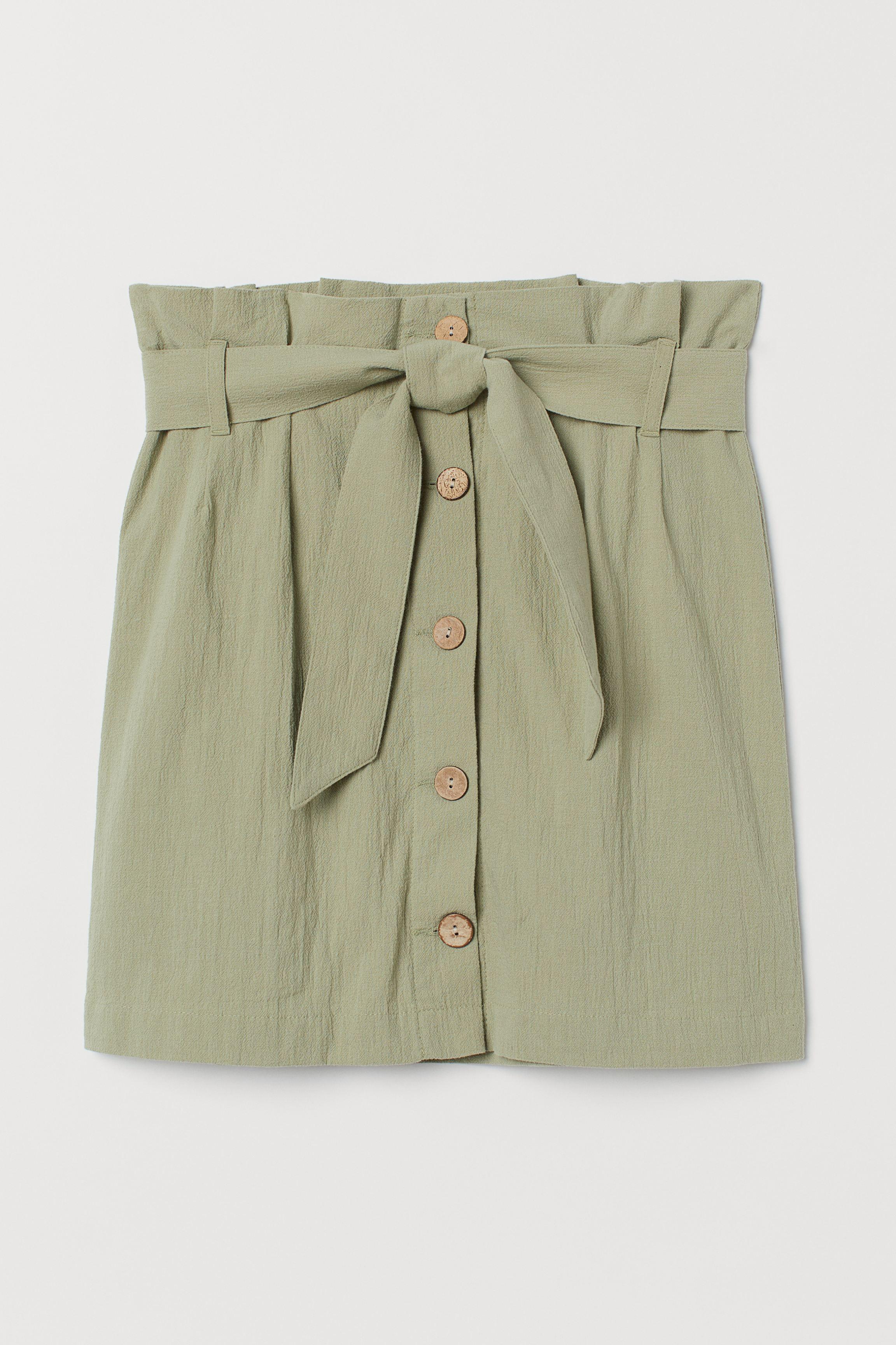 Crêped Paper-bag Skirt