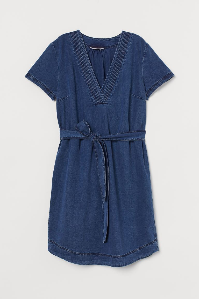 Denim Tunic - Dark denim blue - Ladies | H&M US