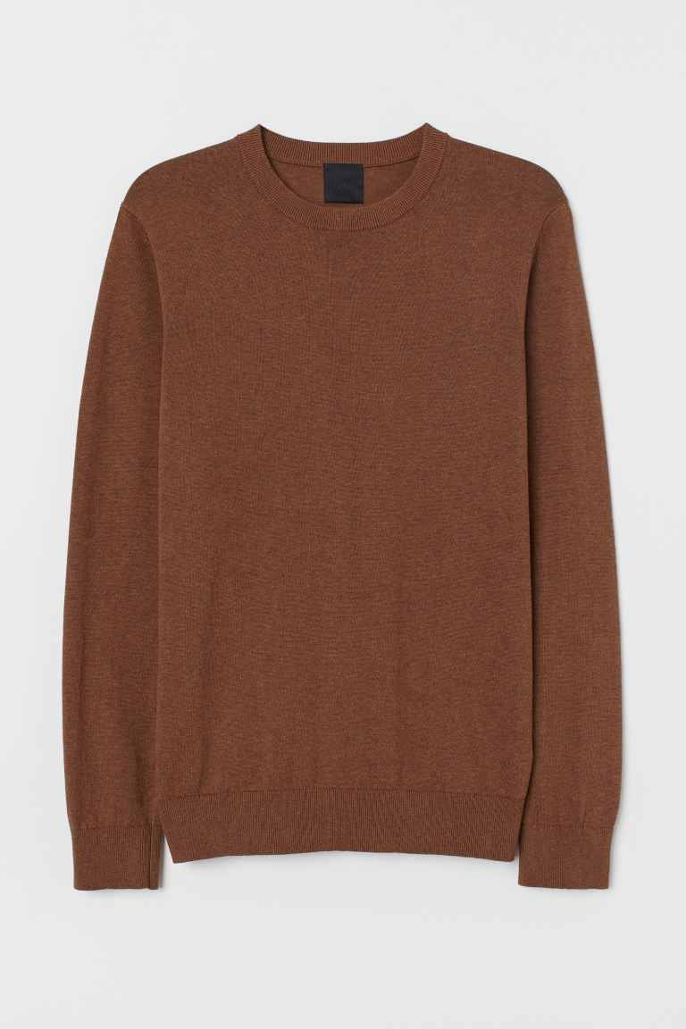 Fine-knit jumper - Camel - Men | H&M