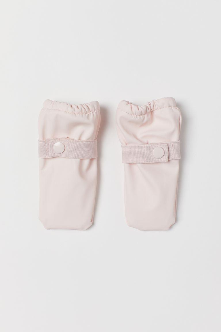Fleece-lined rain mittens