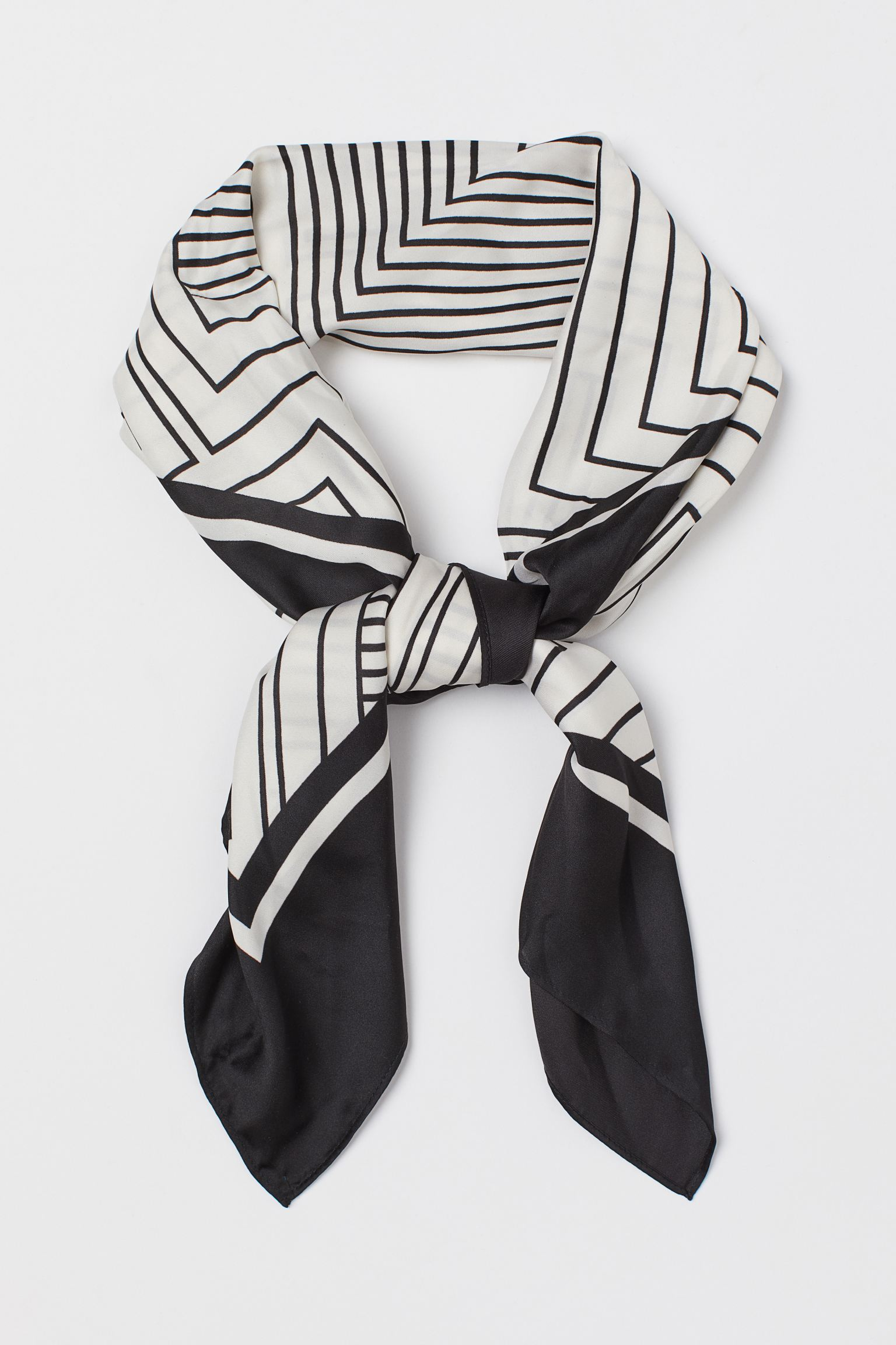 Patterned satin scarf h&m