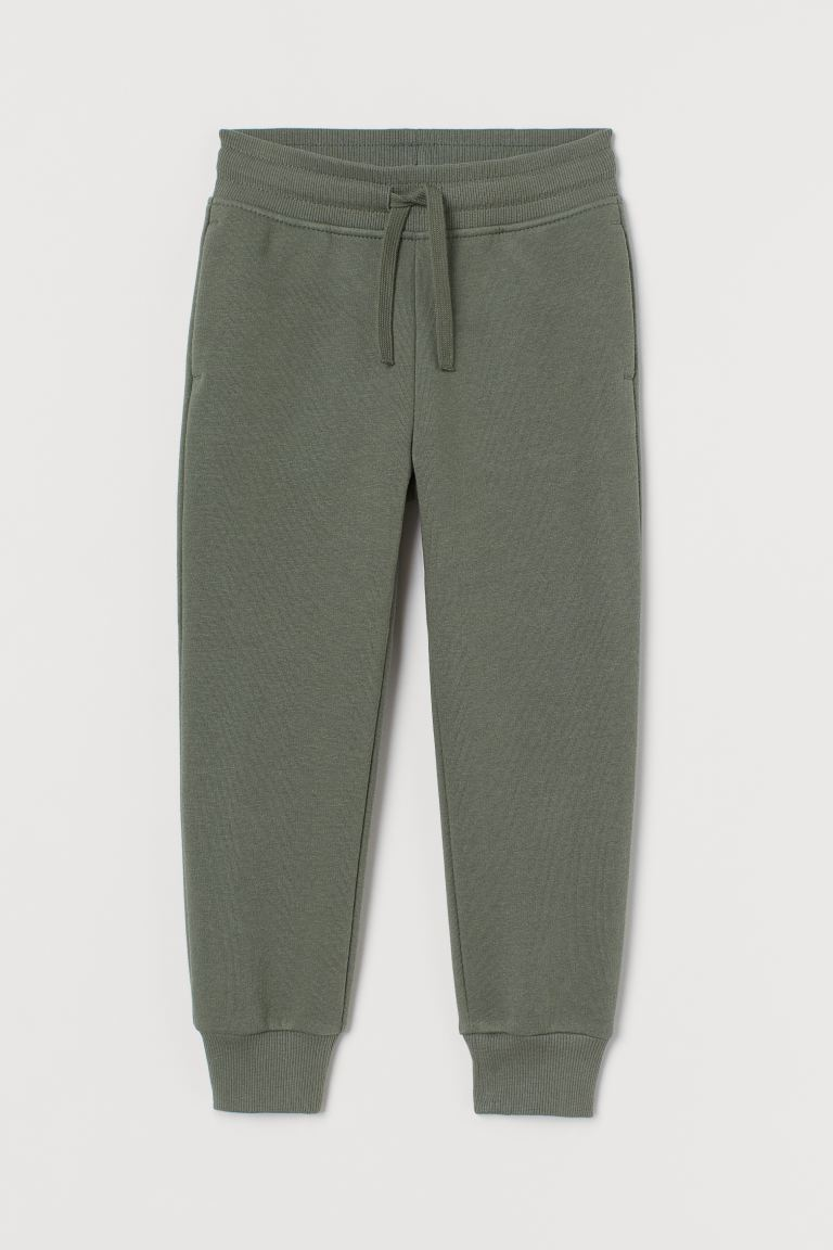 Brushed-inside Joggers - Khaki green - Kids | H&M CA
