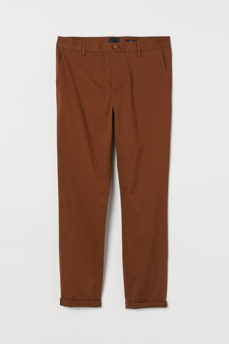 Chinos Slim Fit - Brown - Men | H&M