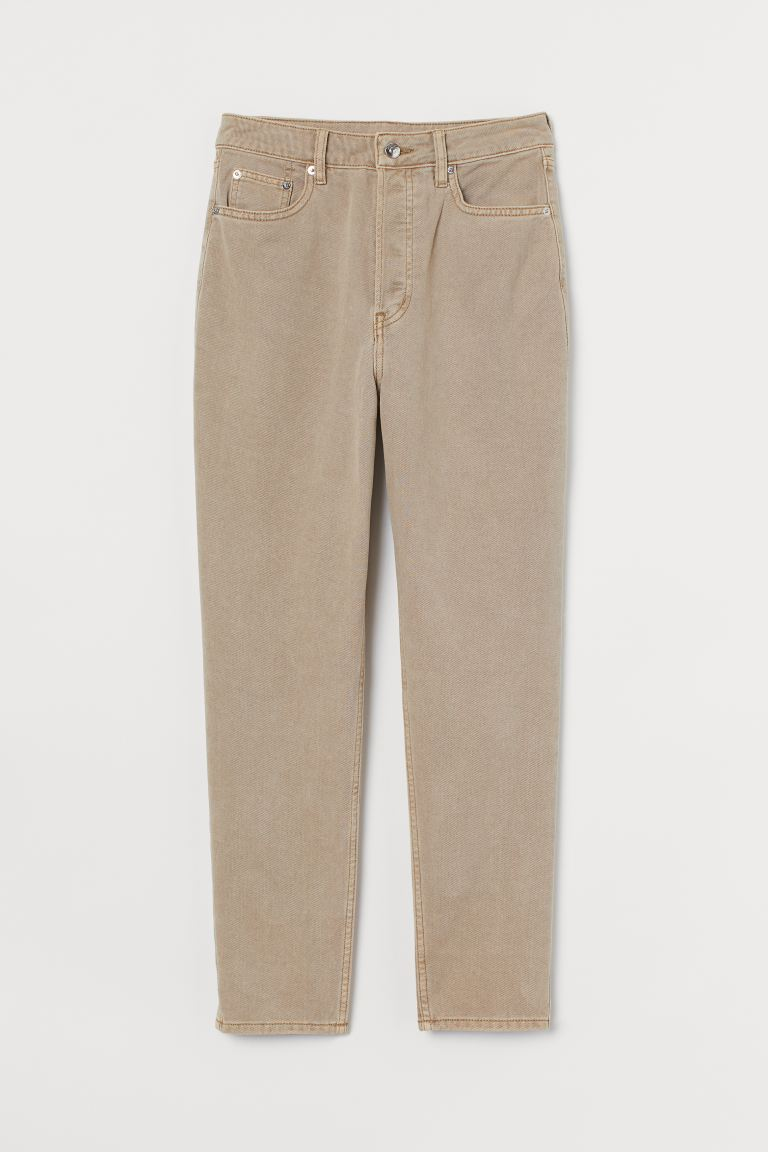 Slim Mom High Ankle Jeans - Beige chiaro - DONNA | H&M IT