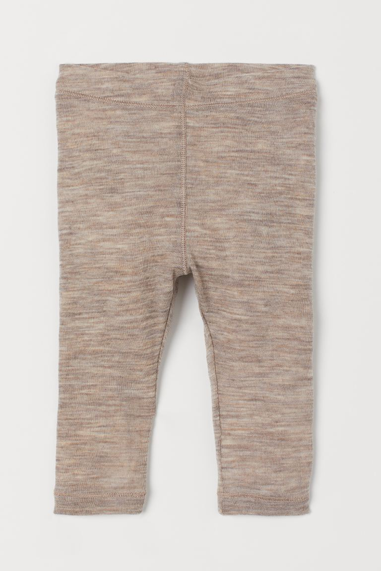 Wool Leggings - Beige melange - Kids | H&M US