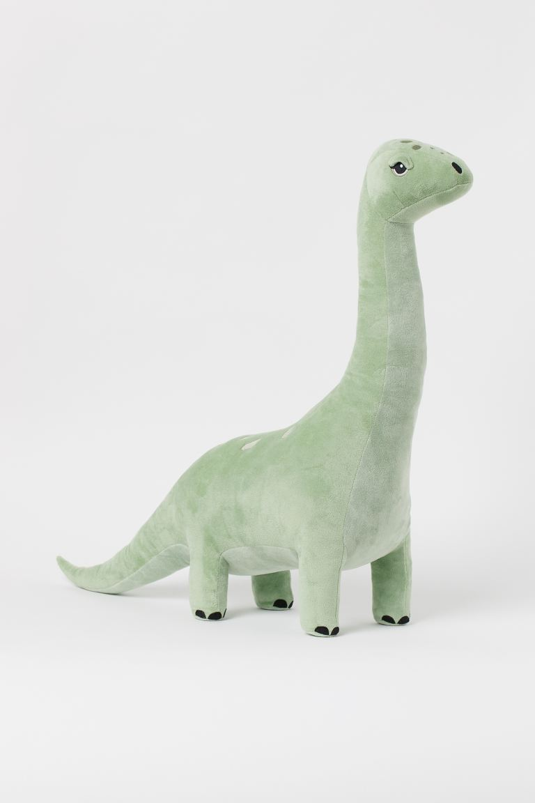 Large Velour Soft Toy - Light green/Brontosaurus - Home All | H&M CA