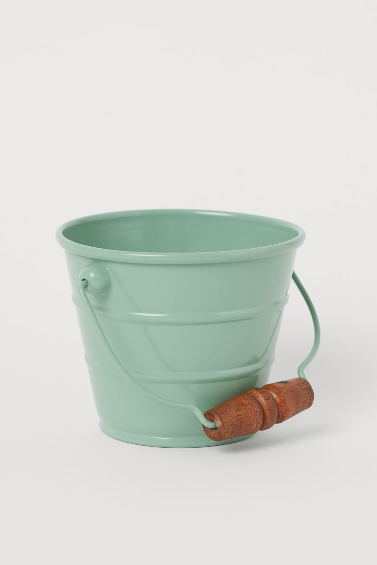 Small Metal Bucket - Light green - Home All | H&M CA