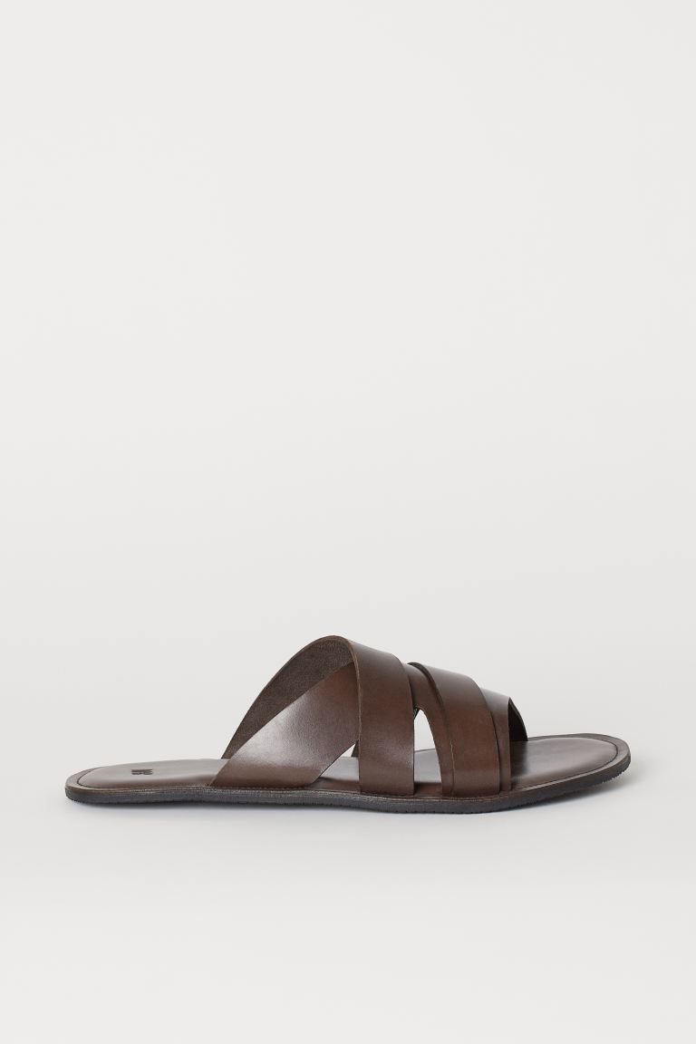 Leather mules - Brown - Men | H&M