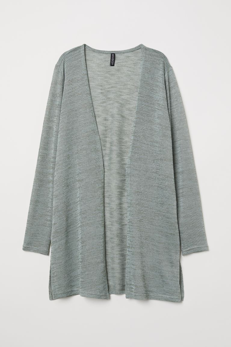 Fine-knit Cardigan - Khaki green - Ladies | H&M CA