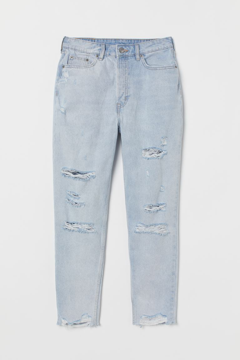 Slim Mom High Ankle Jeans - Haalea deniminsininen - NAISET | H&M FI