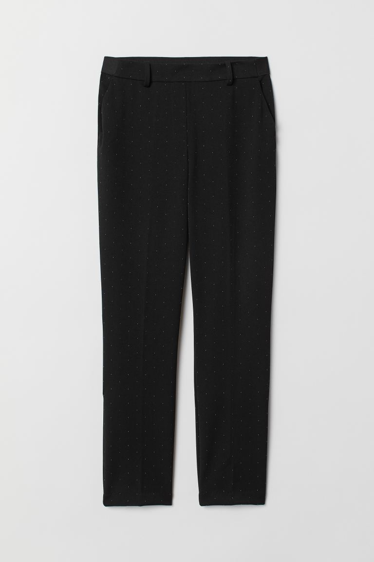 Pantaloni pull-on a sigaretta - Nero/pois - DONNA | H&M CH
