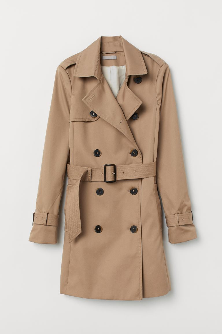 Short trenchcoat - Beige - Ladies | H&M GB