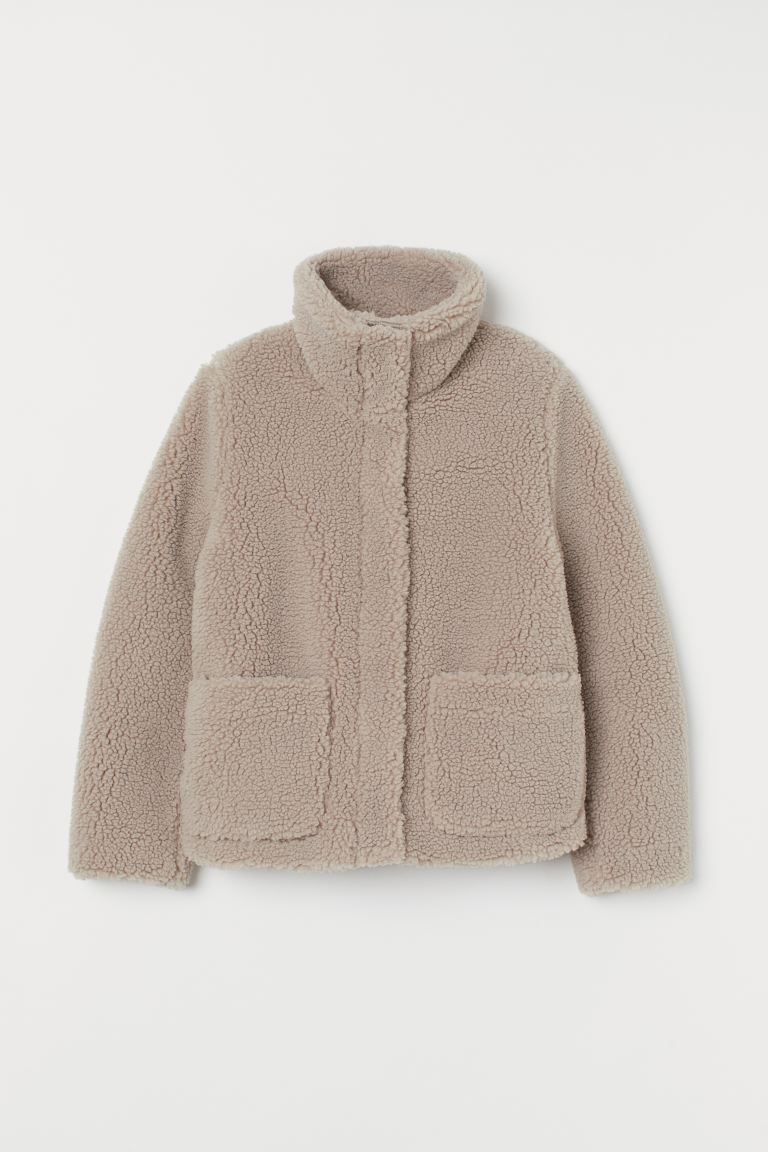 Faux Shearling Jacket - Light taupe - Ladies | H&M US
