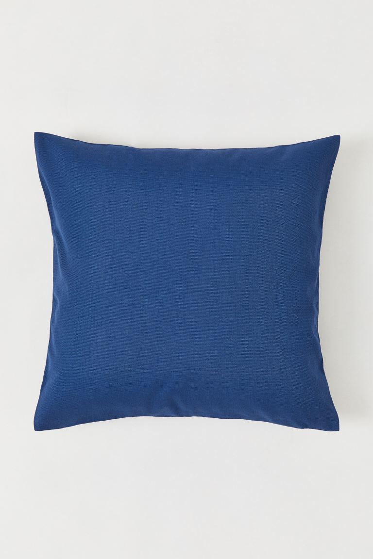 Canvas Cushion Cover - Cornflower blue - Home All | H&M US