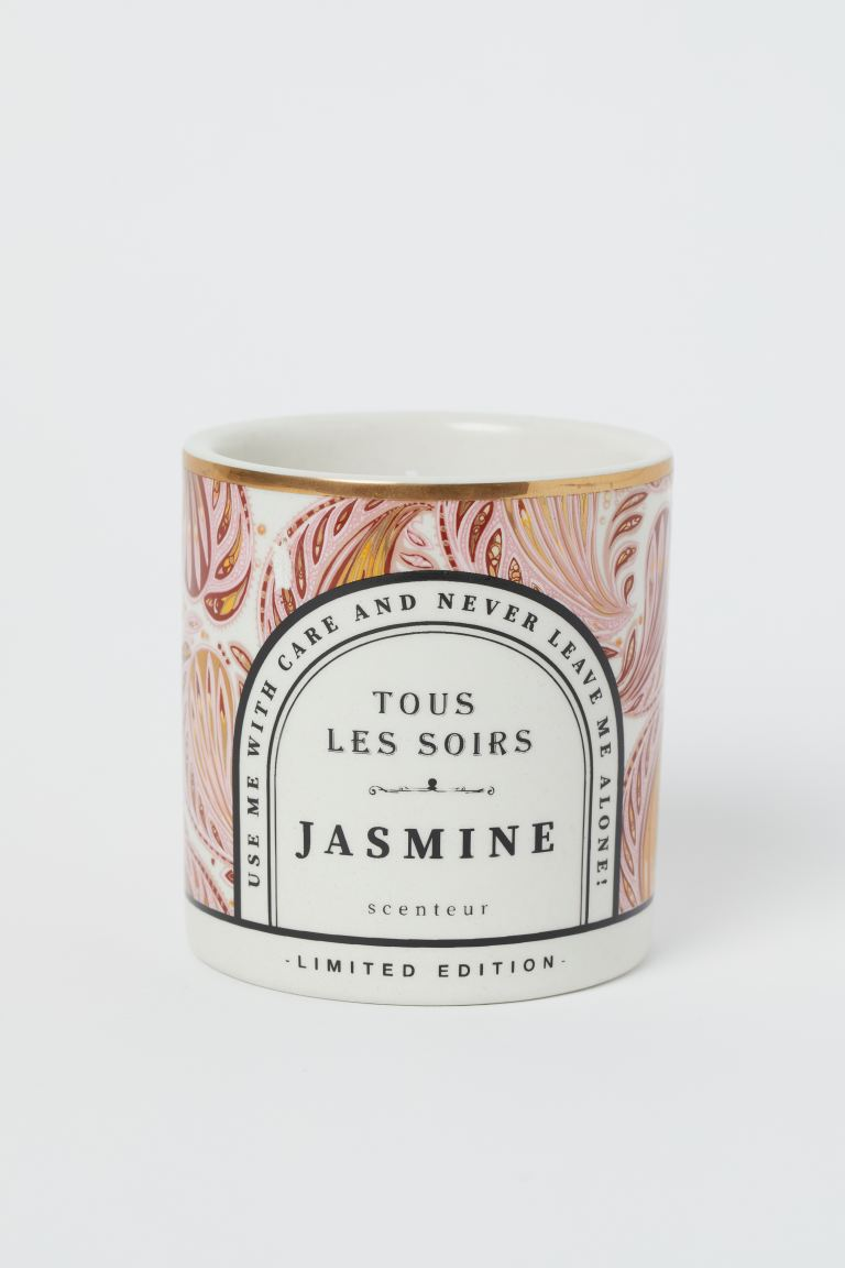 Bougie parfumée en pot - Rose poudré/Jasmine - Home All | H&M FR