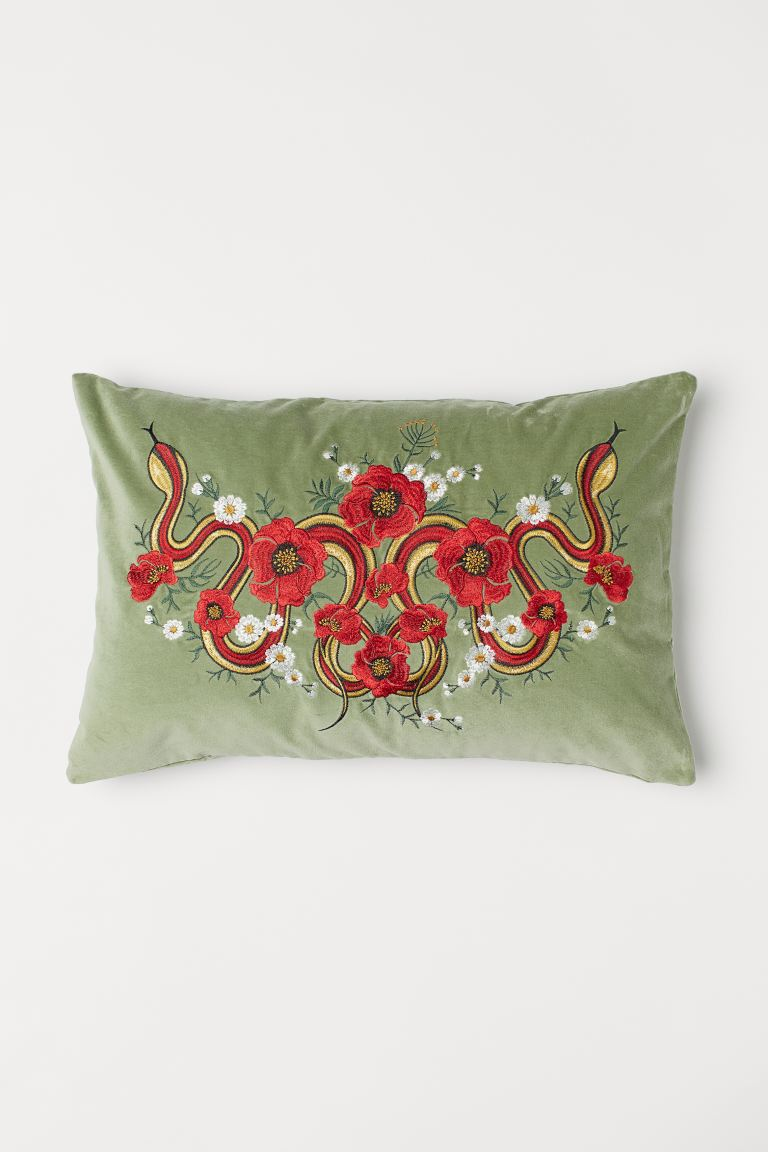 Velvet Cushion Cover - Green - Home All | H&M US