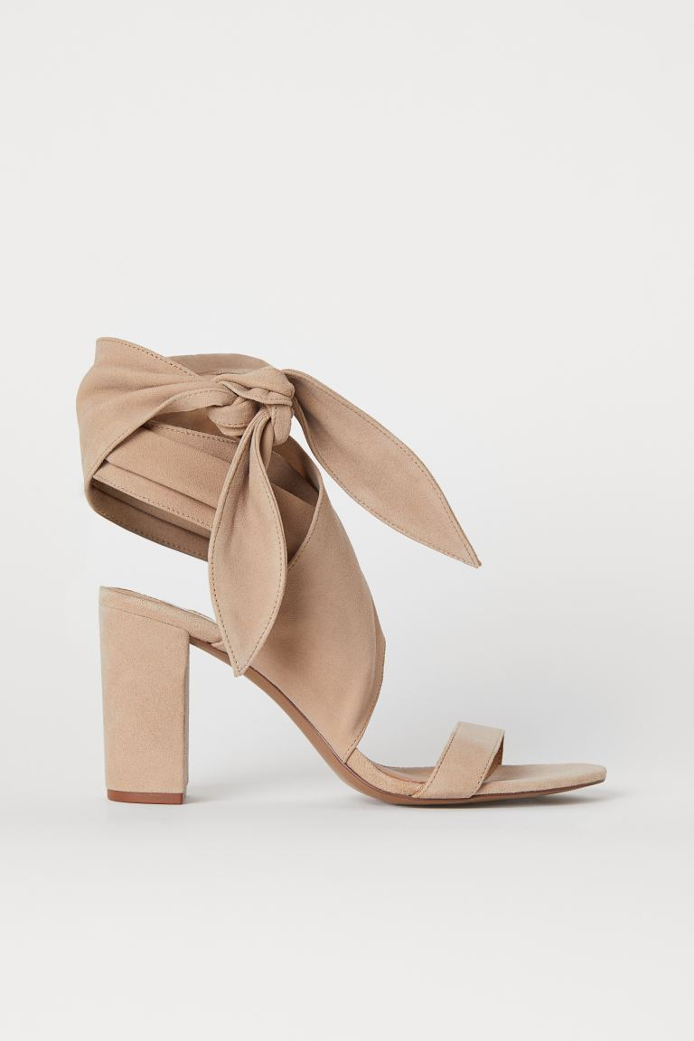 Suede Sandals - Beige - Ladies | H&M US