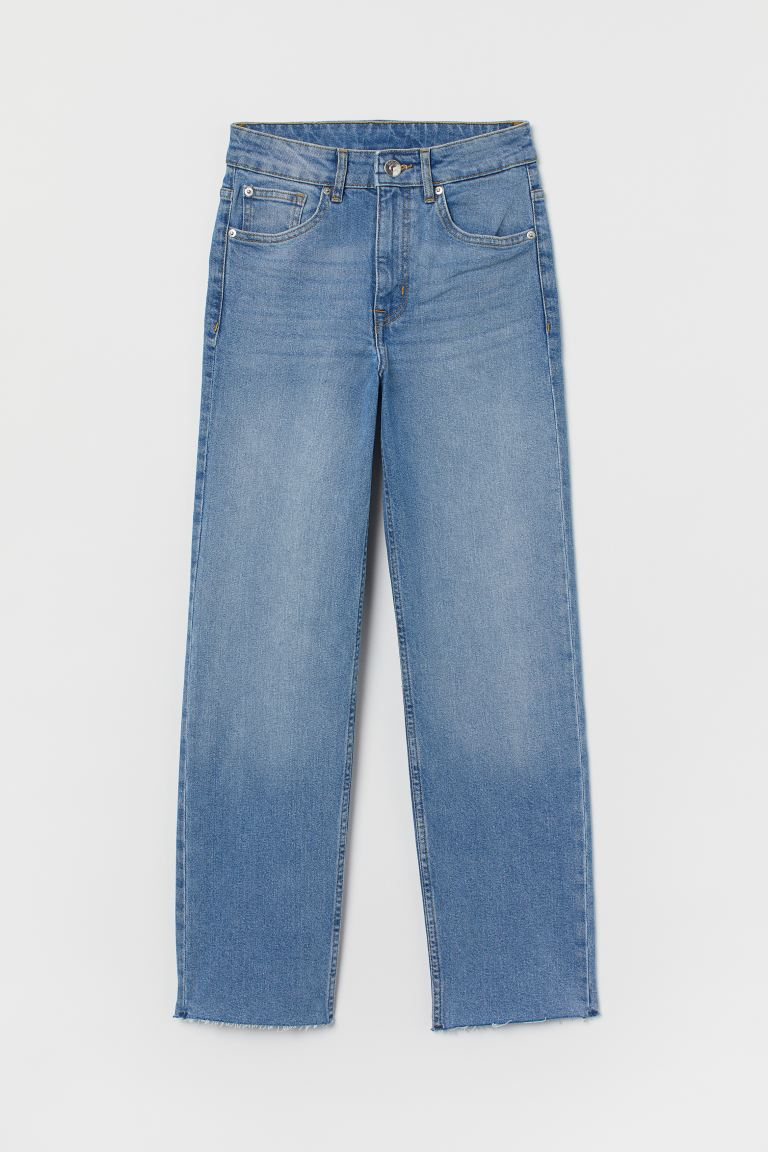 Straight High Ankle Jeans - Светлосин деним - ЖЕНИ | H&M BG