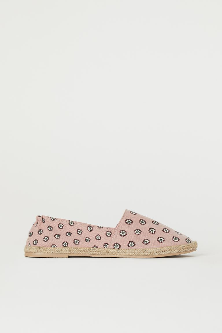 Espadrilles - Powder pink/Patterned - Ladies | H&M IN