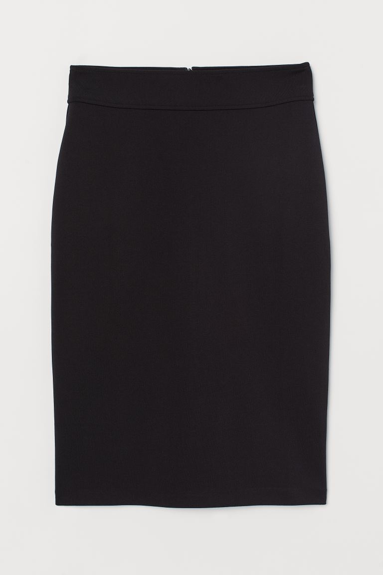 Jersey Pencil Skirt - Black - Ladies | H&M US