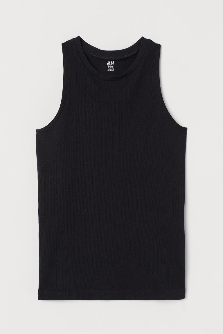 Seamless Sports Top - Black - Ladies | H&M US