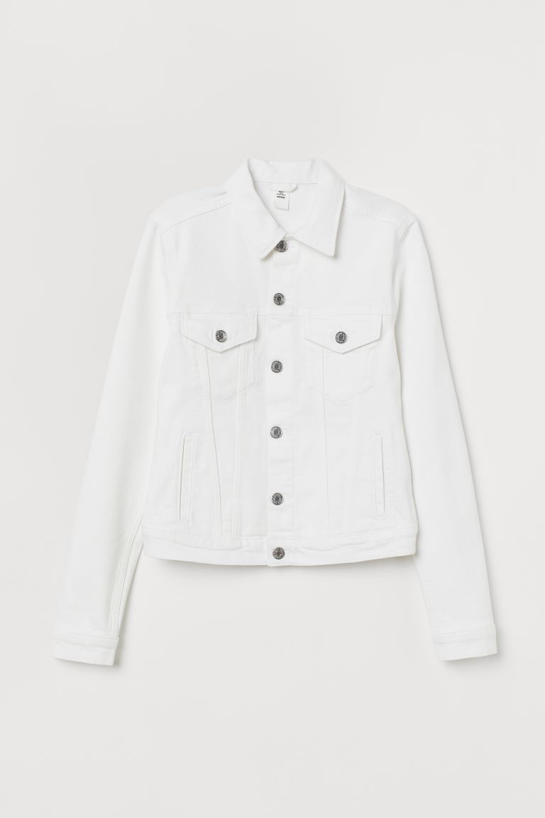 Denim Jacket - White - Ladies | H&M US
