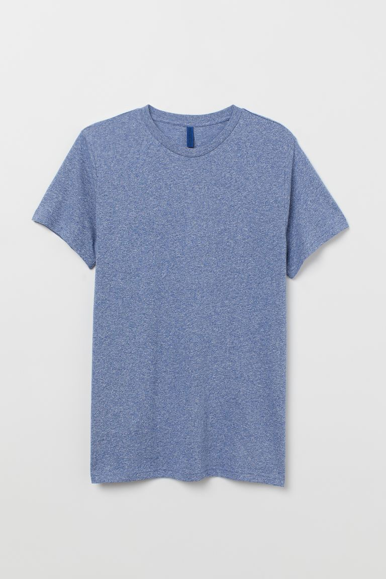 T-shirt Regular fit - Bleu chiné - HOMME | H&M FR