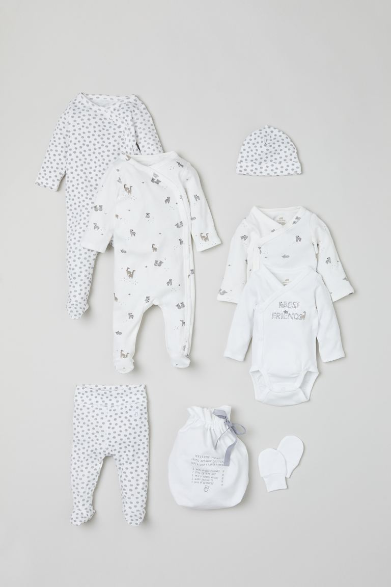 Set de 7 piezas de algodón - Blanco/Best Friends - Kids | H&M MX