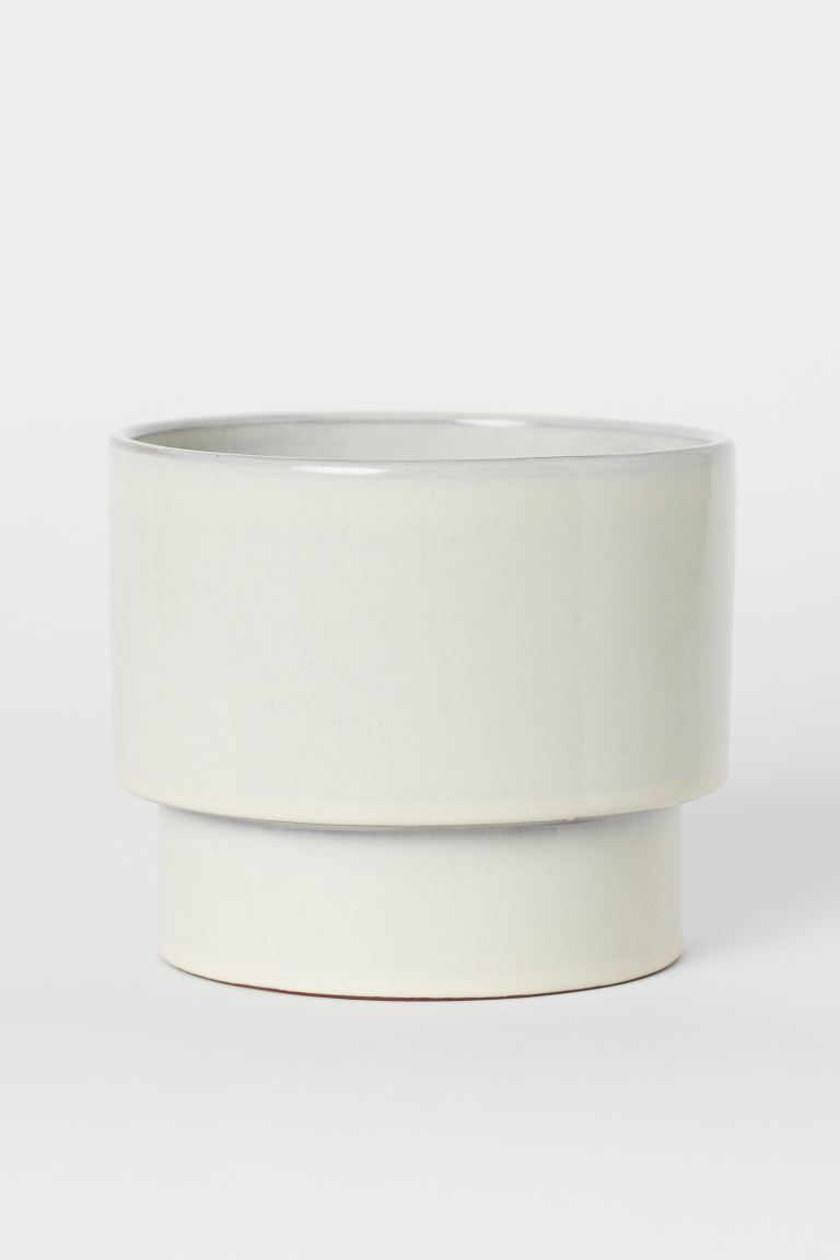 Cache-pot en céramique - Écru - Home All | H&M CA