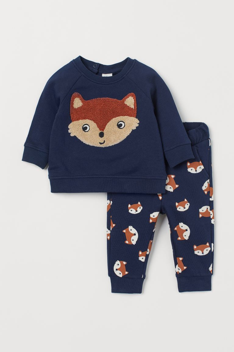 2-piece set - Dark blue/Fox - Kids | H&M GB