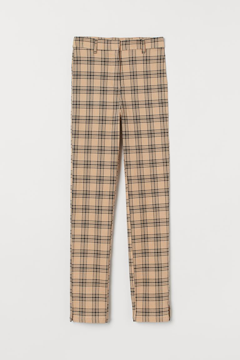Slacks - Beige/checked - Ladies | H&M US