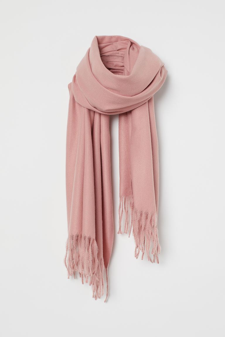 Woven scarf - Old rose - Ladies | H&M GB
