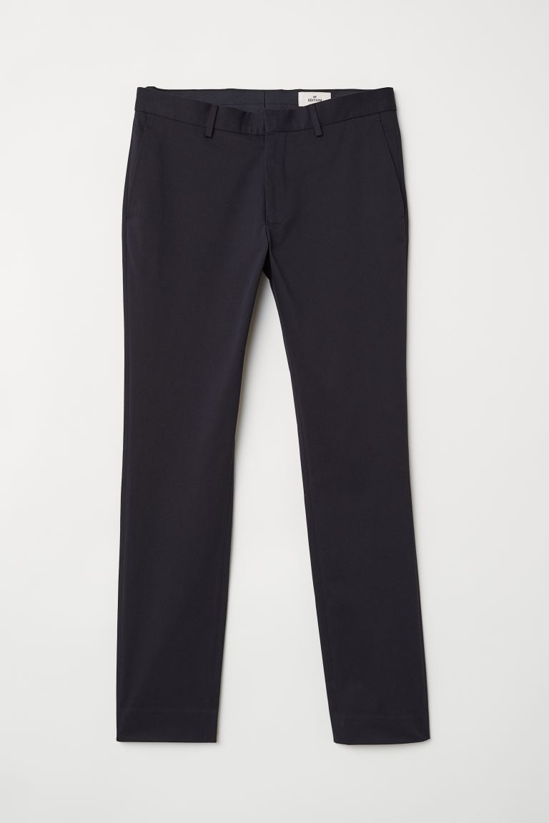 Chinos in cotone - Blu scuro - UOMO | H&M IT