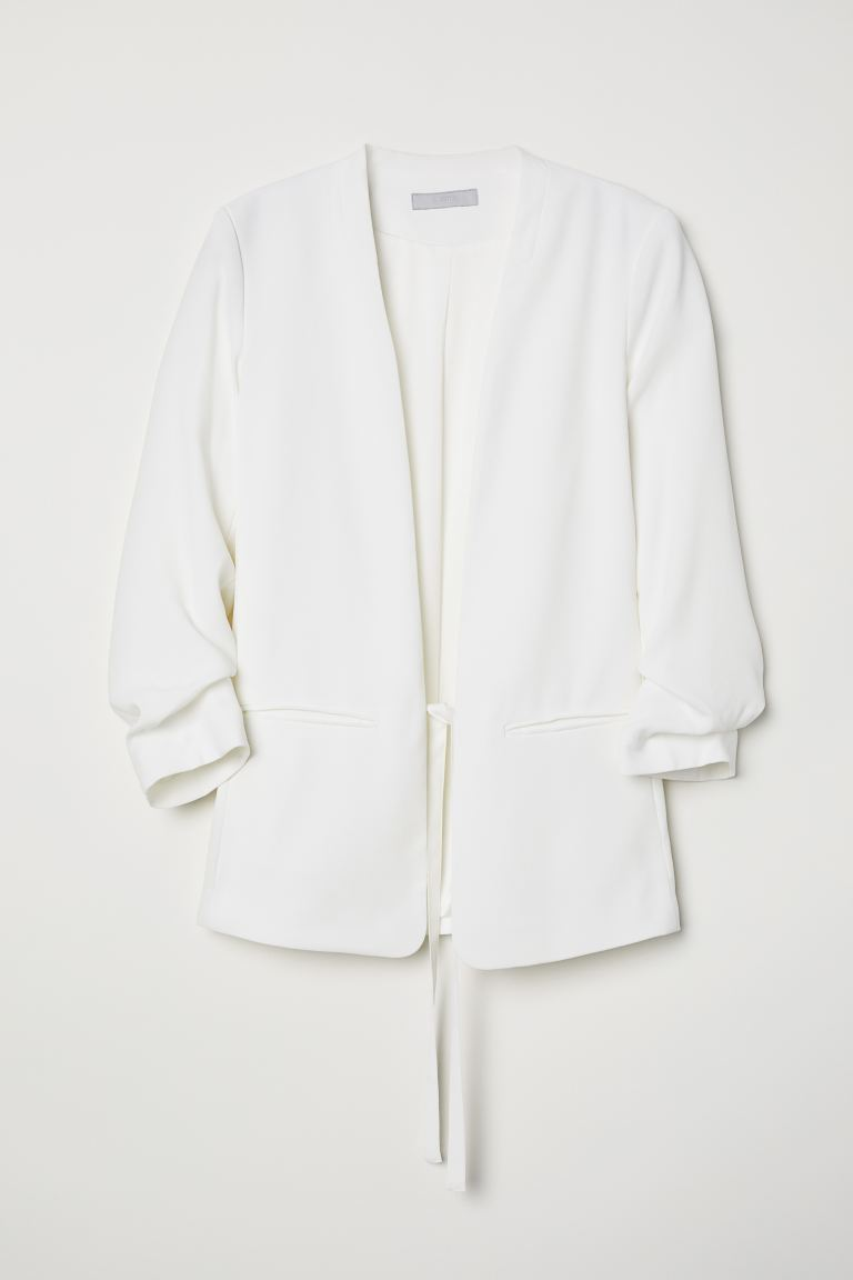 Jacket with Ties - Cream - Ladies | H&M US