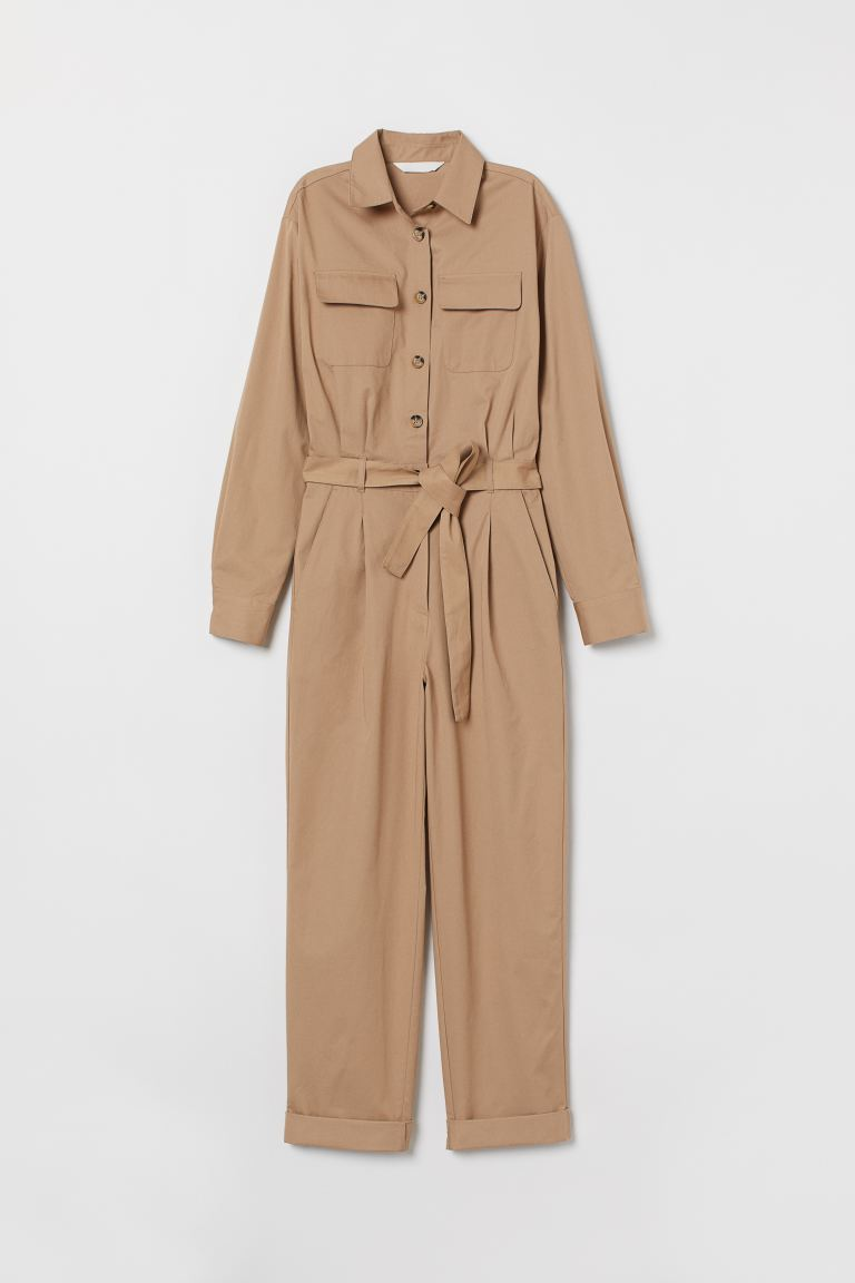 Cargo jumpsuit - Beige - Ladies | H&M GB
