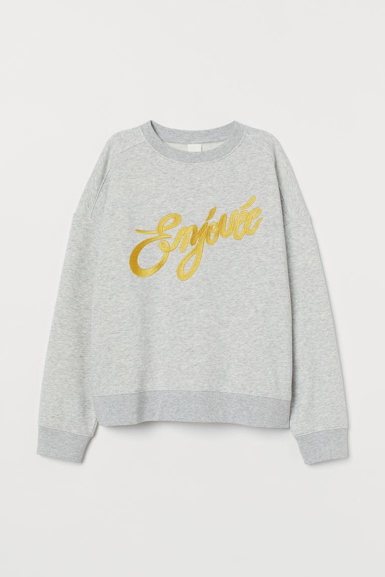 Text-motif sweatshirt