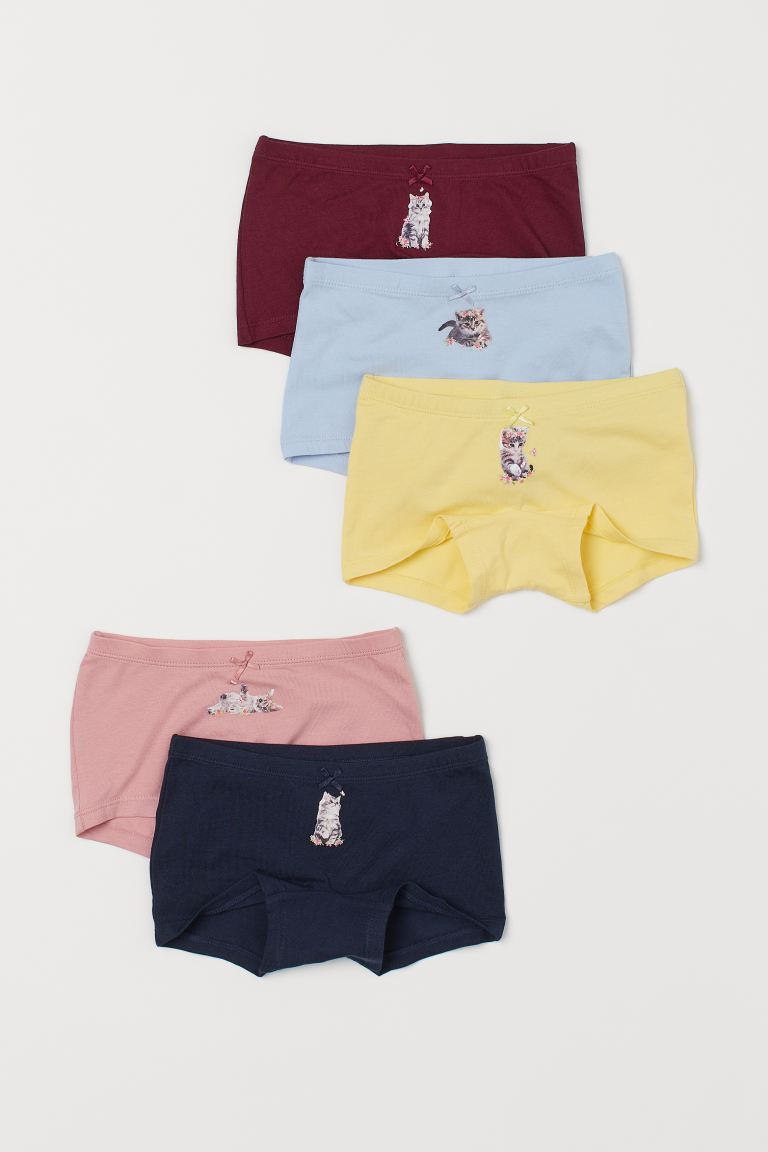 5-pack boxer briefs - Light yellow/Kittens - Kids | H&M