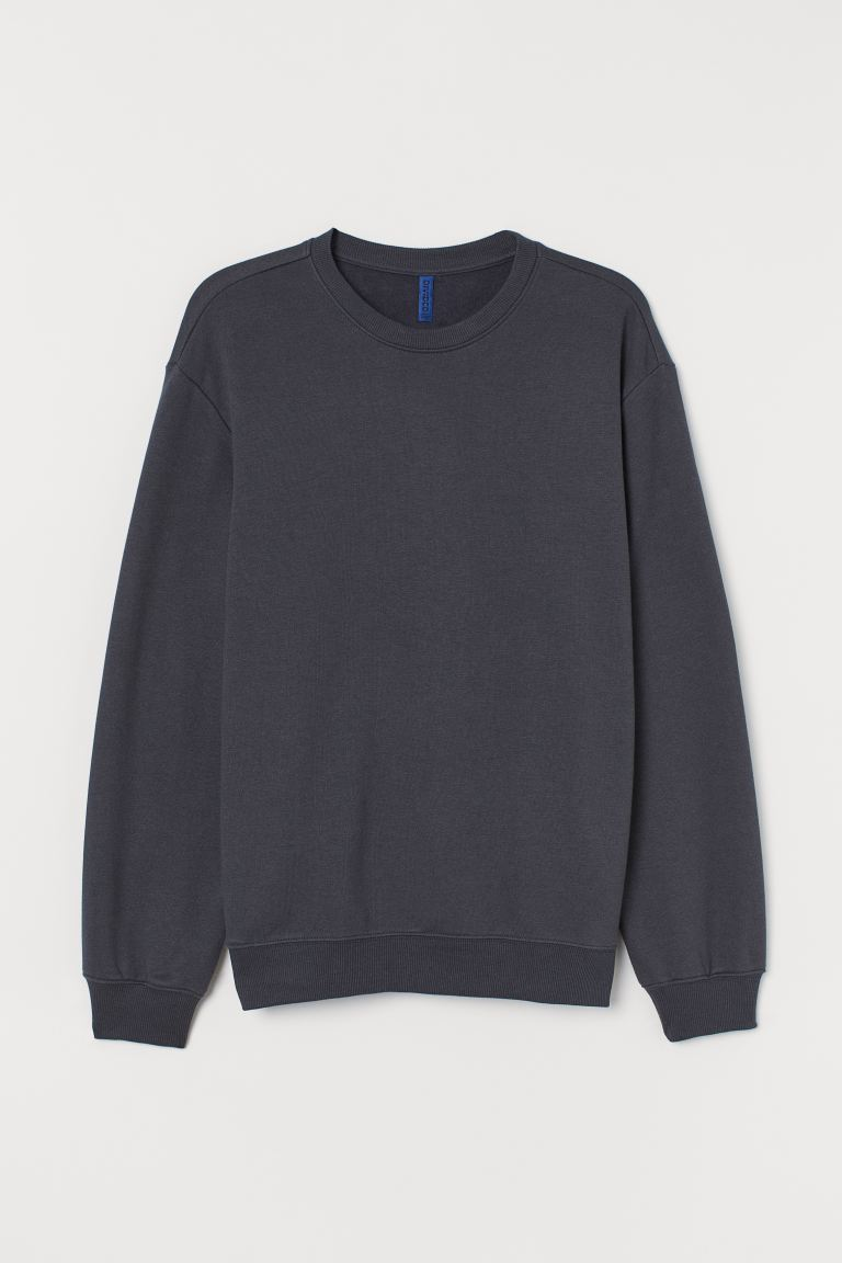 Sweater - Relaxed Fit - Donkergrijs - HEREN | H&M BE