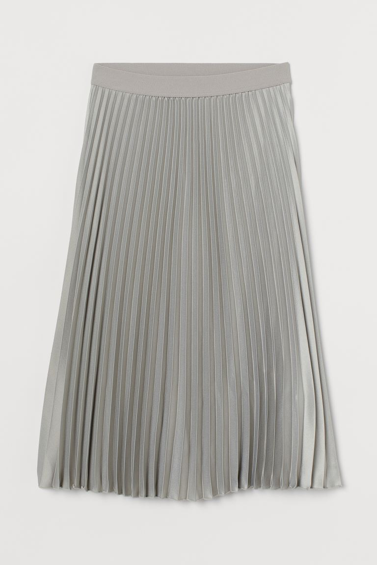 Pleated skirt - Light sage green - Ladies | H&M GB