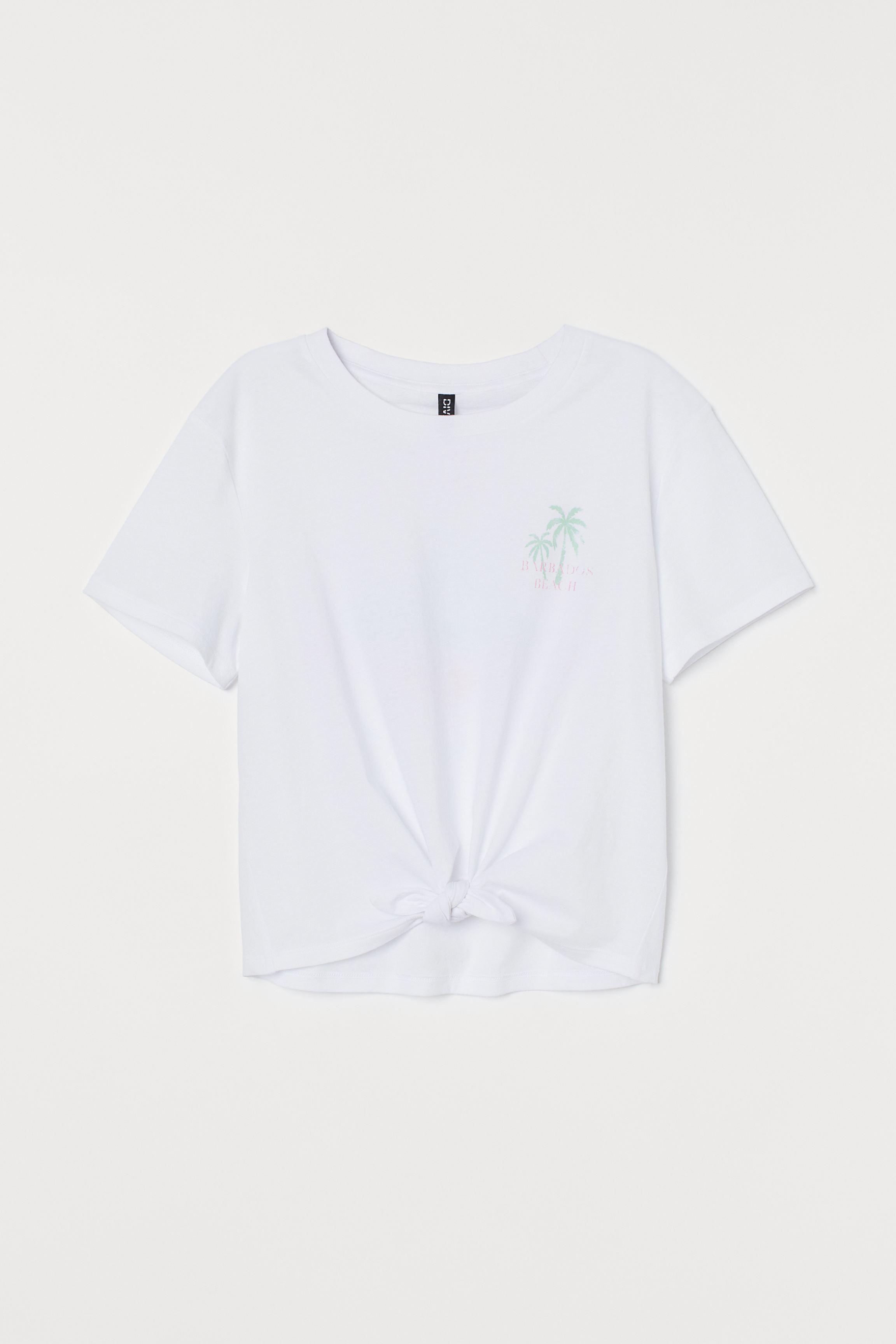 Tie-hem T-shirt