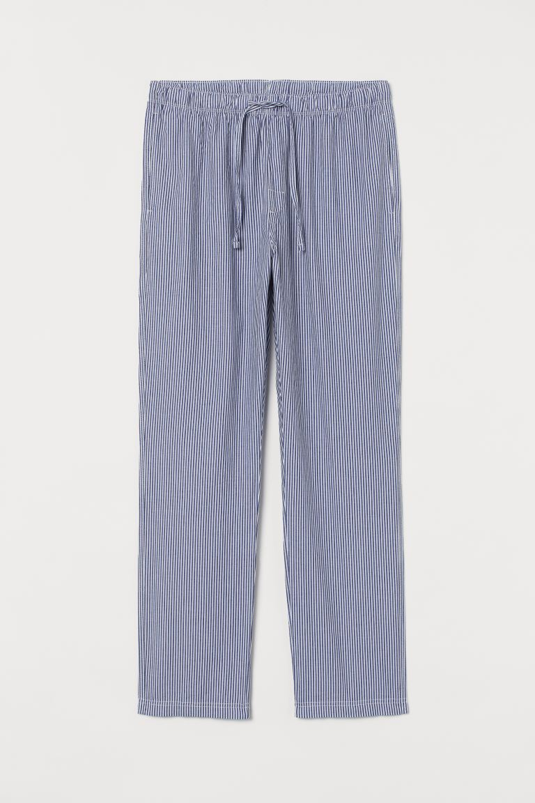 Pyjama bottoms - White/Blue striped - Men | H&M